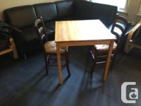 Small table and 2 chairs. Great for smaller spaces or