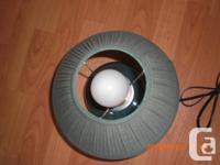 """Small dark table lamp for sale. Height 12.5"""". Base and"""