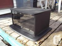 Small Black TV / Entertainment Unit as shown in photos.
