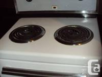 Tiny stove/oven, has 2 burners as well as an oven. 110,