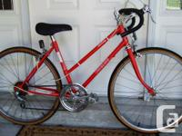 This is a vintage 5 speed road bike with 24 inch wheels