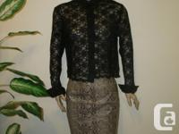 * My Thrift Shop * has this nice black lace Blouse size for sale  British Columbia