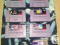 I am selling some (Snes) Super nintendo games .. or