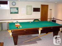 4 1/2 ft. by 9 ft. snooker table in excellent
