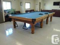 Retail price $18000.00. Solid oak professional snooker