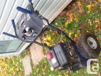 208cc snow blower motor and drive runs well just need