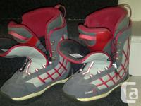 Division 23 snowboard boots, adult size 10/42.5. Dusty,