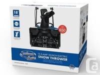 "Like new 18"" electric Snow Joe snow thrower. Very"