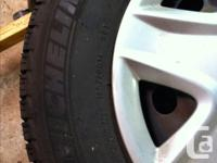 Set of 4 Michelin X-Ice snow tires on steel rims. Was