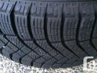 215/55 R16 97T M+S Perelli Ice Zero Snow Tires mounted