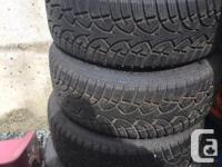4, 205/55r16 general tire altimax arctic tires mounted