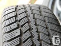 Four Nexen snow tires with 70% tire wear left. 215/60