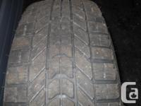 4- P215 65/R15 Winterforce Snow Tires on steel rims