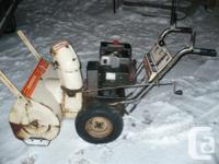 10 hp 26 inch cut mtd snowblower, brand-new belt, new