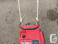 I'm selling a little Snowblower Toro S-200 3hp on