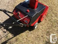 Have a two stroke snowblower. Easy to push and good for