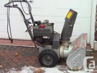 I am asking $250.00 for an 8Hp 24in width snowblower.