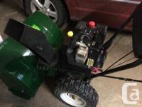 Yard Functions Snowblower. Has 10 hp Tecumseh engine