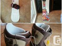 Snowboard: Salomon Possibility. Bindings: Burton.