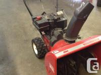"snowflite snowblower 8 hp 24""reduced jobs excellent new"