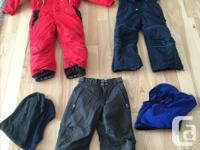 "have for sale the following: - red ""No Fear"" snowsuit,"