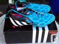 Both pairs are size 8 US. Blue pair is brand new with