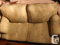 Sofa and loveseat great condition. Downsizing, sofa