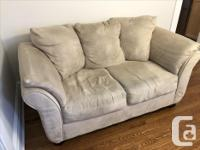 Beige sofa and two chairs (full matching set). Good