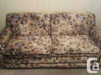 Sturdy sofa bed and armchair for sale.  Very good