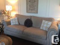 Beautiful custom sofa, loveseat and ottoman combination