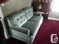 Sofa and recliner sofa also has fold out option $400