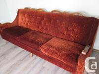 84 INCH SOFA and CHAIR RECENT UPHOLSTORY EXCELLENT