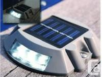 LED Solar Dock Light -White-25% OFF $17.00 each or Buy