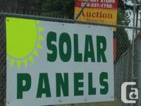 We merely obtained photovoltaic panels in at the