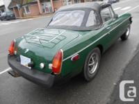Make MG Model MGB Year 1979 Colour GREEN kms 44000