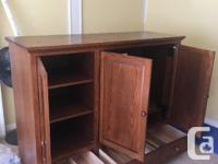 Solid oak, beautiful high quality armoire. $150 OBO.