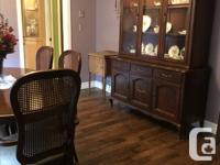 This is solid cherry dining room set originally