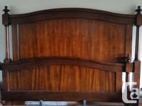Solid cherry king sized 8-piece bedroom set for sale,