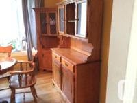 Buffet and hutch, 2 corner buffets, table with 2 leafs,
