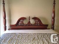 Beautiful Queen Size bed. Solid Cherry Wood four