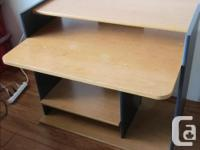 Office quality solid computer desk. Compact footprint