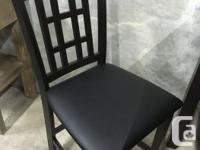 Solid hardwood counter height chairs with bonded