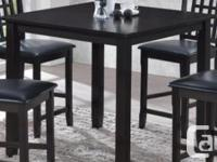 """Solid hardwood 36"""" x 36 """" counter height(36"""") dining"""