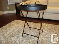 Strong Black Iron Round Table (Collapsable) - Brand