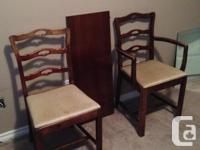 """Duncan Phyfe style ,double pedestal, dining set. 52"""""""