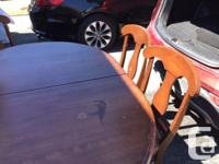 Solid Maple Kitchen table with 6 chairs, table needs