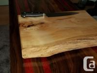 Hand crafted maple cutting boards. Made with local