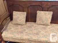 Fully restored and reupholstered antique bench circa