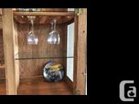 Solid oak china cabinet with many extras including