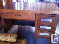 Magnificent solid oak desk. They don't make 'em like